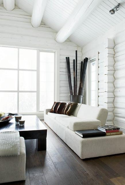 inspiracja tygodnia ciana z bia ego drewna lub paneli. Black Bedroom Furniture Sets. Home Design Ideas