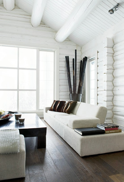 białe drewno na ścianie