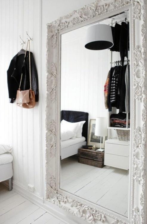 wnętrza w stylu glamour czarno-białe