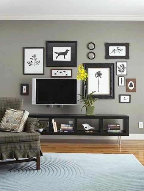ściana telewizyjna aranżacje
