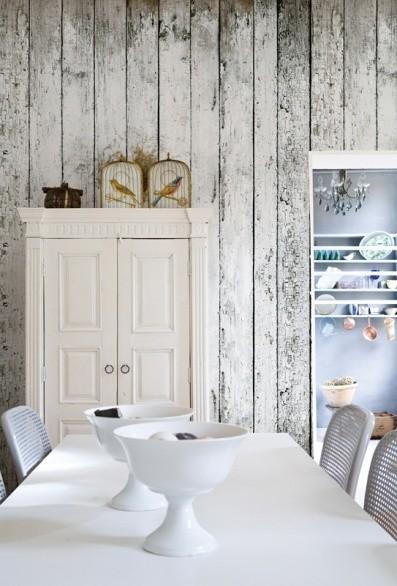 białe panele w kuchni