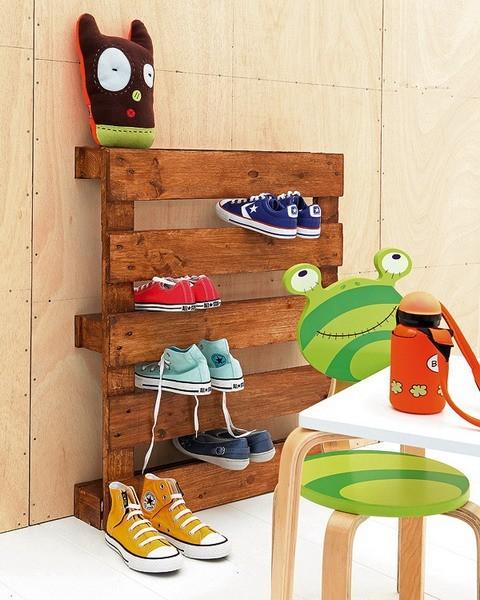 półka z palet drewnianych