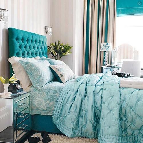 sypialnia w stylu glamour inspiracje