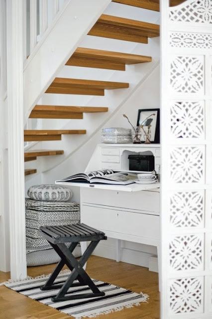 biurko pod schodami