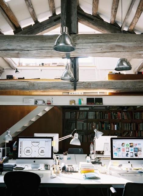 biuro na strychu