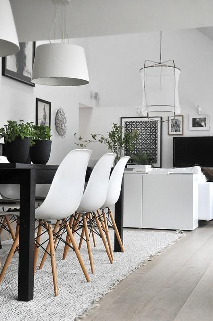 wnętrza,skandynawskie wnętrza,skandynawska jadalnia,białe krzesła,białe aranżacje