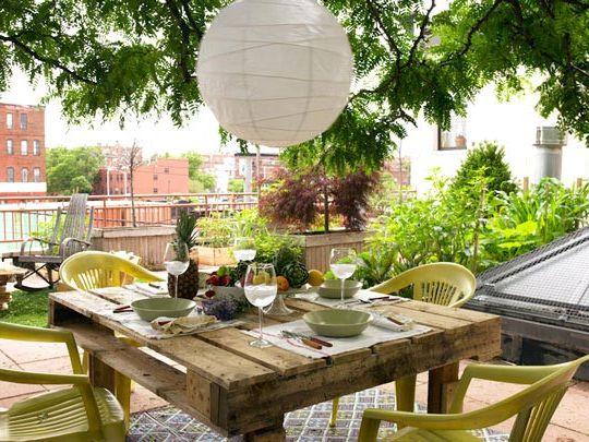 stół do jadalni z palet