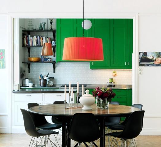 kuchnia zielone szafki