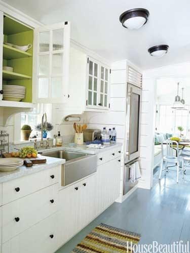 zielone akcenty w kuchni