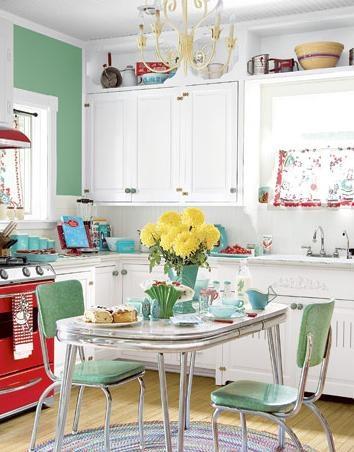 zielone meble w kuchni