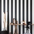 Inspiracje w czarno-białe paski, czyli tour po oryginalnych wnętrzach