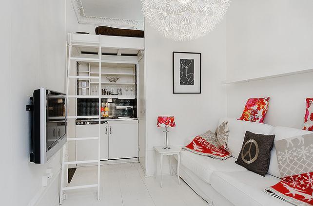 decoracao cozinha loft:mieszkanie,biała kawalerka,may apartament,mini apartament,mini loft