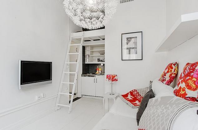 decoracao mini kitnet:małe mieszkanie,biała kawalerka,may apartament,mini apartament,mini