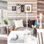 Klimatyczna kompozycja drewna i cegły w aranżacji pełnej szyku i naturalności