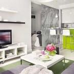 Jak pomysłowo i tanio urządzić małe mieszkanie w limonkowym i szarym kolorze – zakupy online