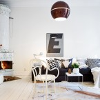 Po skandynawsku i z charakterem, czyli aranżacja mieszkania w bieli, brązie i szarości :)
