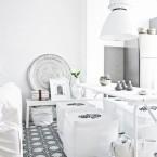 Jak urządzić jadalnię, czyli o stołach do kuchni i jadalni. Inspiracje do małych i dużych mieszkań z prostokątnym stołem – cz.2