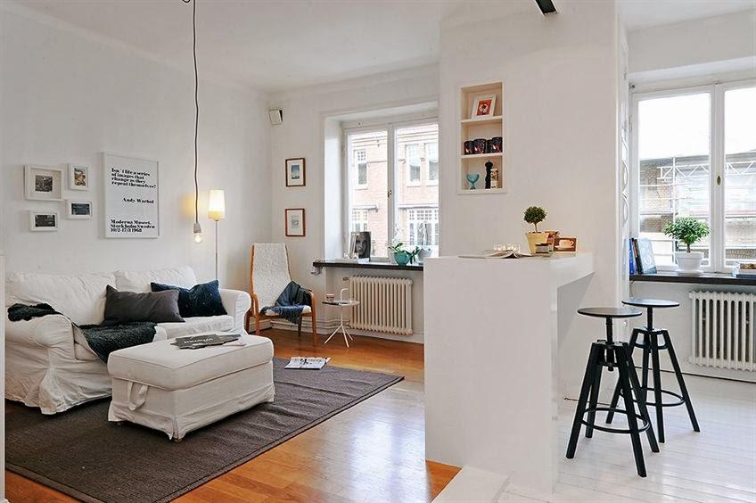 decoracao sala kitnet : decoracao sala kitnet:Skandynawskie inspiracje na niewielkiej przestrzeni, czyli pomysły na