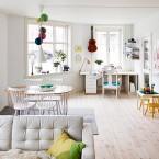 Cudne mieszkanie w stylu skandynawskim – rozświetlona i wesoła aranżacja na pochmurne dni :)