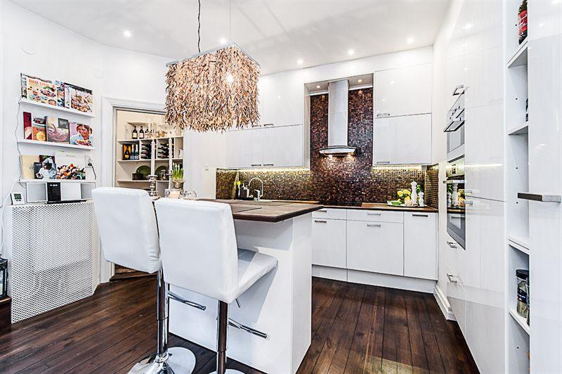 Jak zaaranżować mieszkanie o nieregularnym kształcie w stylu skandynawskim? -> Kuchnia Dodatki Inspiracje