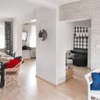 Inspirująca aranżacja polskiego mieszkania w ponadczasowym zestawie biel-czerń-szarość na skandynawskiej bazie :)