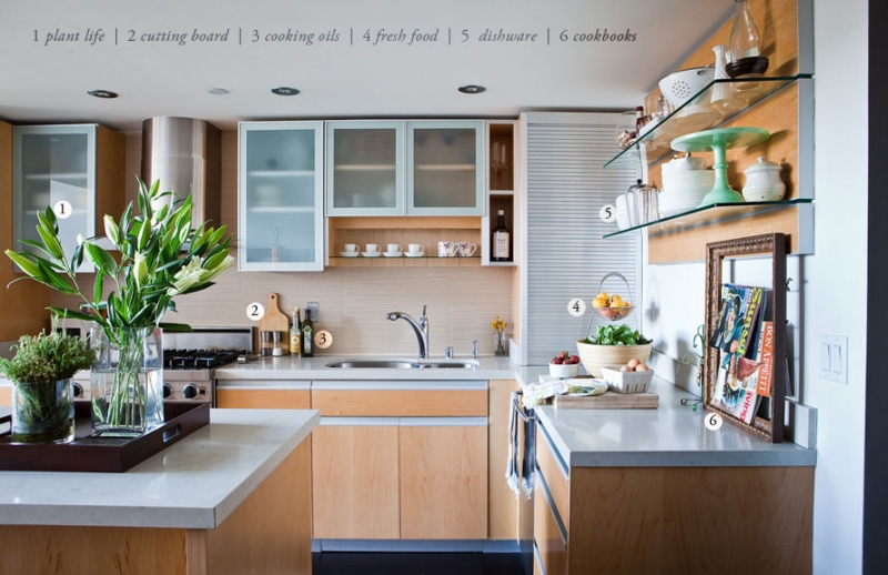 organizacja w kuchni z wyspą