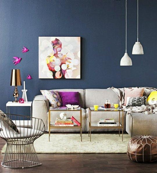 Aran acjw wn trz w kolorze fioletu i granatu - Salon kleur trend ...