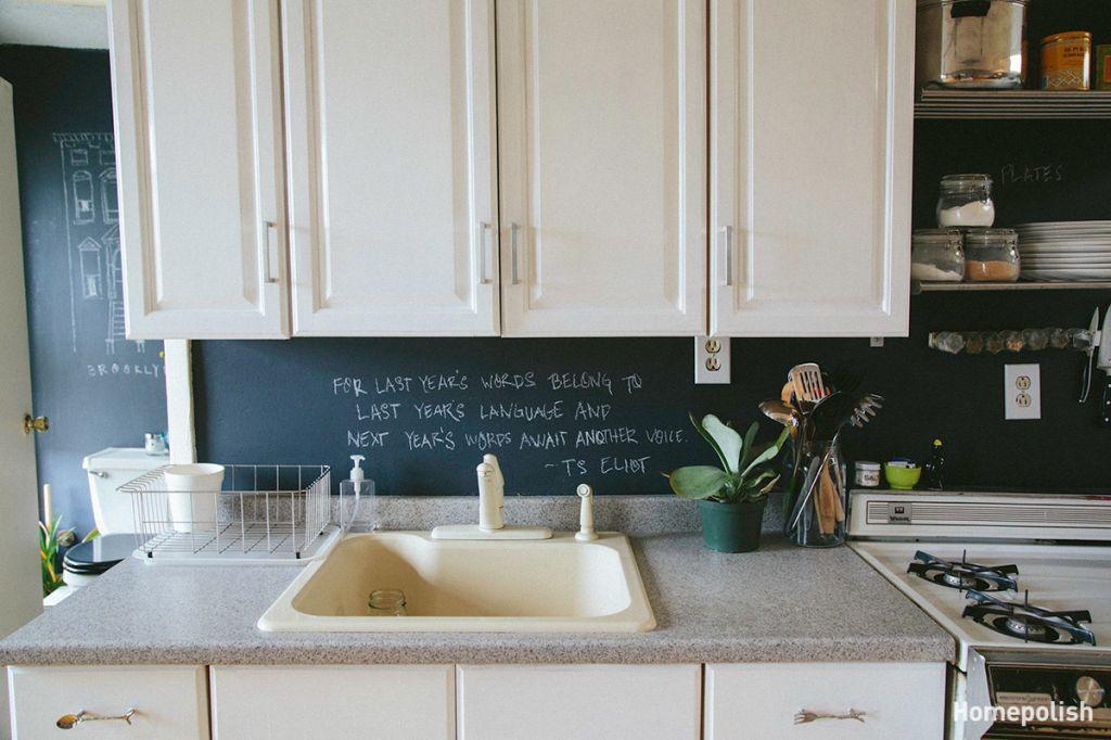 Aranżacje Wnętrz Z Farbą Tablicową W Kuchni I łazience