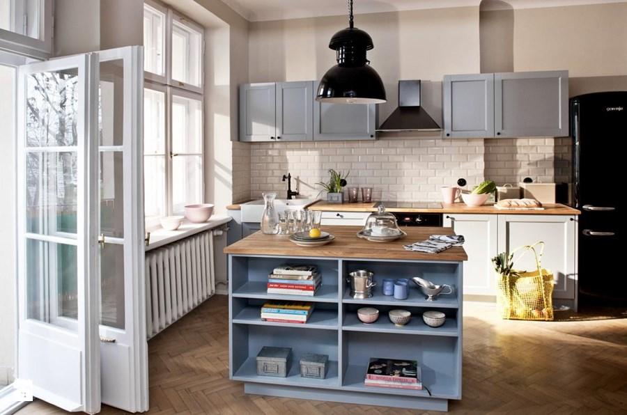 Jak urządzić błękitna kuchnię i polskie mieszkanie pełne kolorów?  Lovingit -> Kuchnia Skandynawska Inspiracje