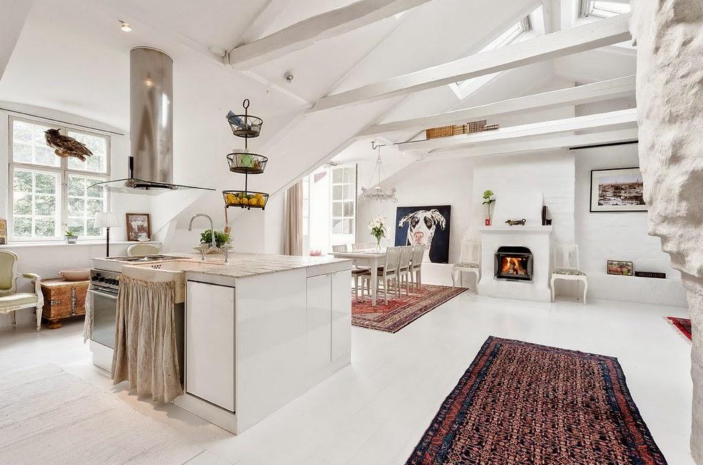 Aranżacje mieszkań inspiracje i galeria zdjęć -> Kuchnia Na Poddaszu Aranżacja Wnetrza