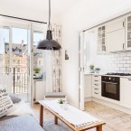 Blokowe inspiracje, czyli mieszkanko o pow. 48 m2 zaaranżowane na biało z ładnym balkonem