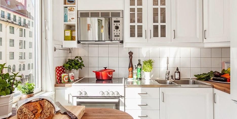aranżacja białej kuchni