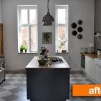 Before & after eleganckiej kuchni, czyli udana metamorfoza wnętrza z niewykorzystaną przestrzenią