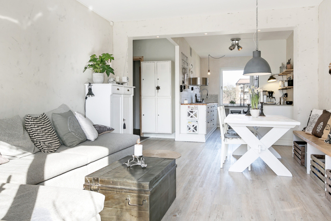Diy Decoracion Salon ~ Aranzacja mieszkania w stylu skandynawskim w odcieniach bieli i
