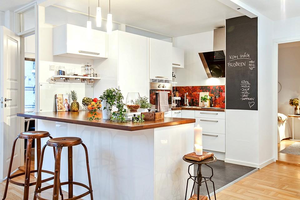 Jak urządzić mieszkanie w stylu romantycznym? -> Kuchnia I Salon W Stylu Skandynawskim