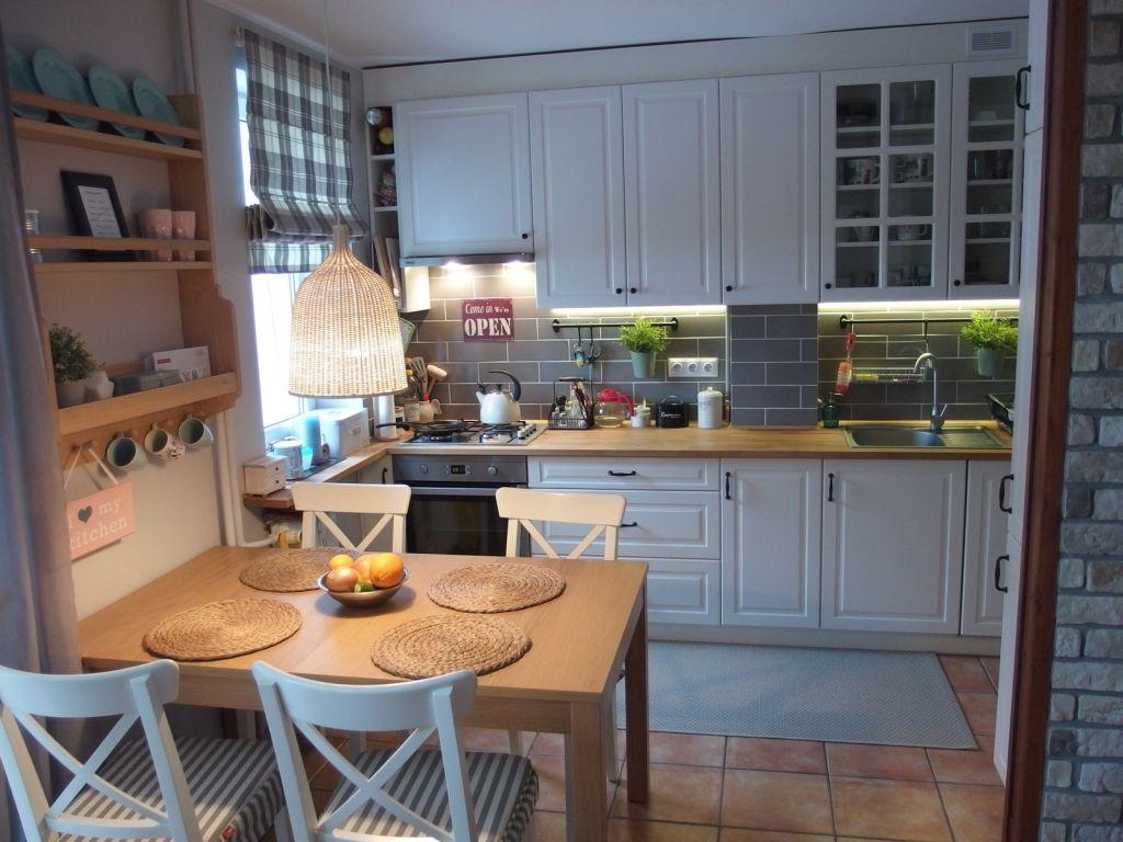 Jak wyremontować kuchnie i przedpokój  zdjęcia przed i po   -> Kuchnia Kremowa Ikea