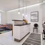 Białe deski, czerwone cegły, oryginalna typografia i północny klimat – czyli funkcjonalne mieszkanie w stylu skandynawskim :)
