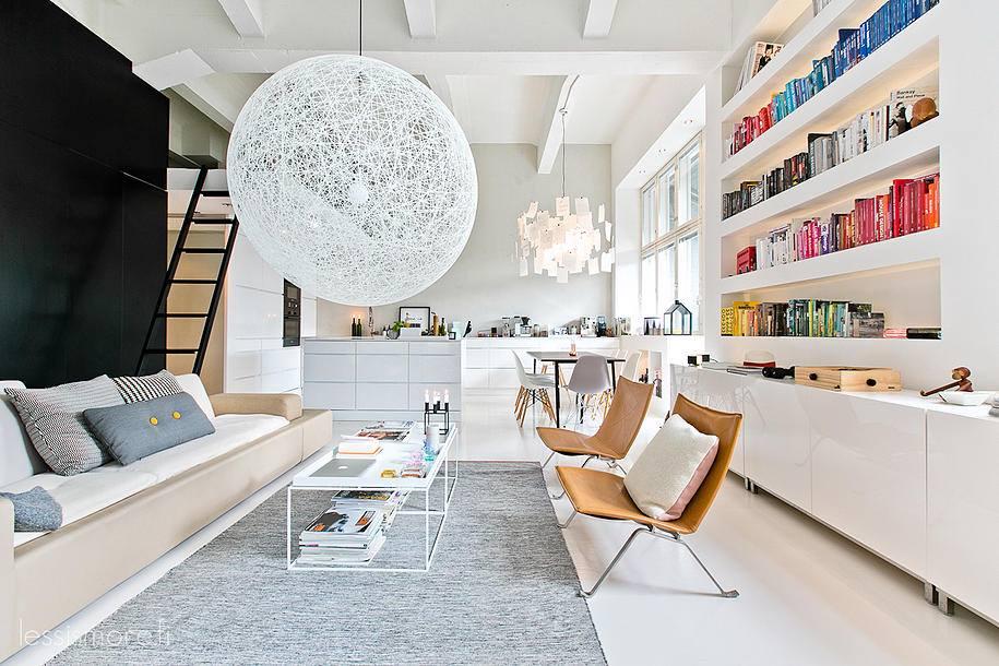 Jak urz dzi nowoczesne mieszkanie pomys y i zdj cia - Deco lounge open keuken ...