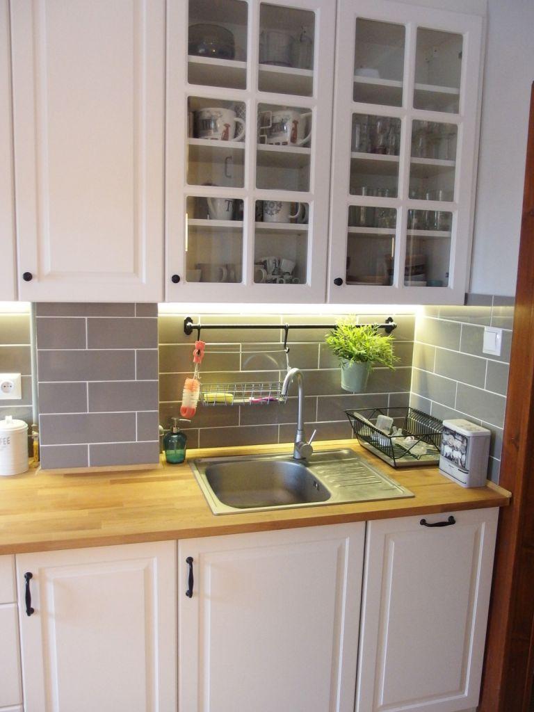 Jak wyremontować kuchnie i przedpokój  zdjęcia przed i po remoncie? -> Kuchnia Ikea Bobdyn