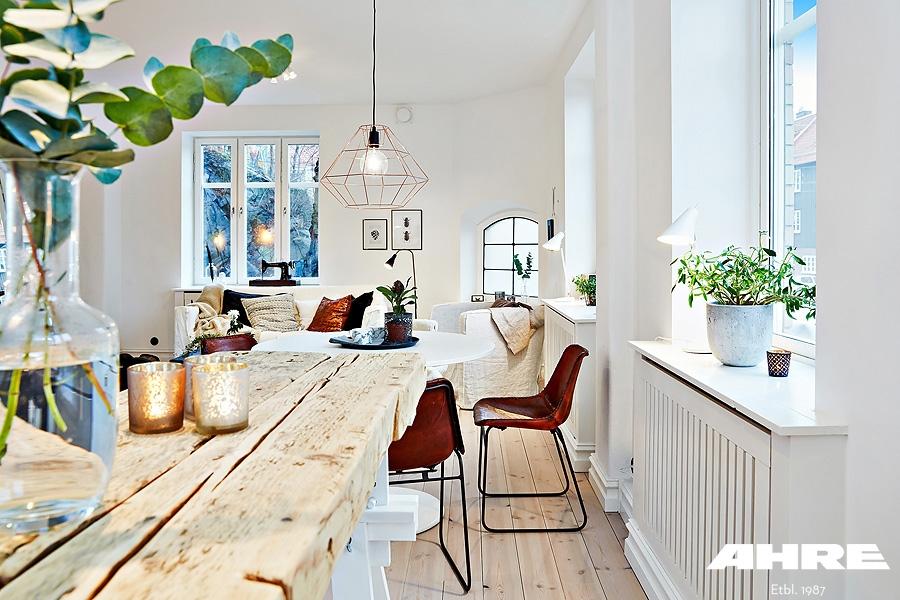 białe rozświetlone mieszkanie