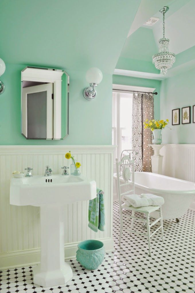 Jak dobiera kolory do wn trza for 1920s bathroom remodel ideas