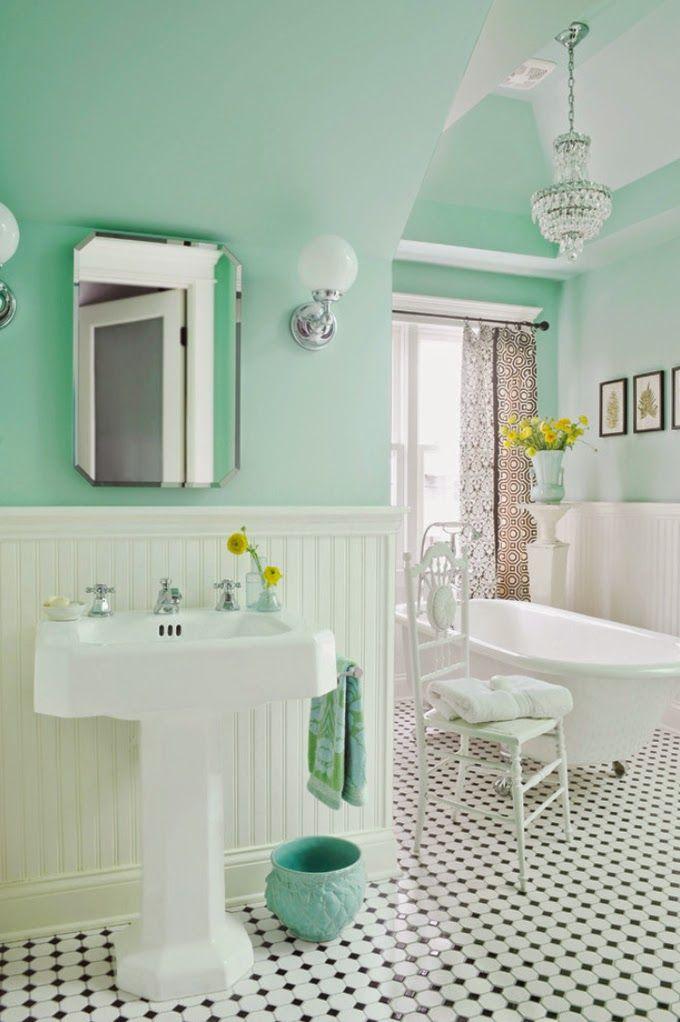 Red And Green Bathroom Design Ideas ~ Jak dobierać kolory do wnętrza