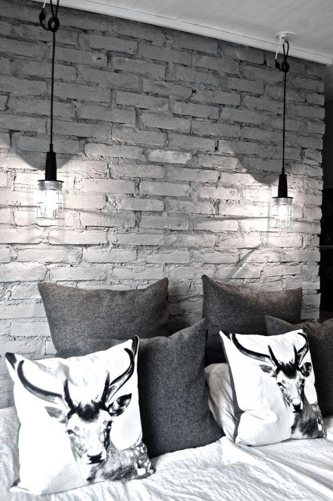 Jak prawid owo k a ceg y na cianie - Divine images of home interior wall with grey brick wall ...