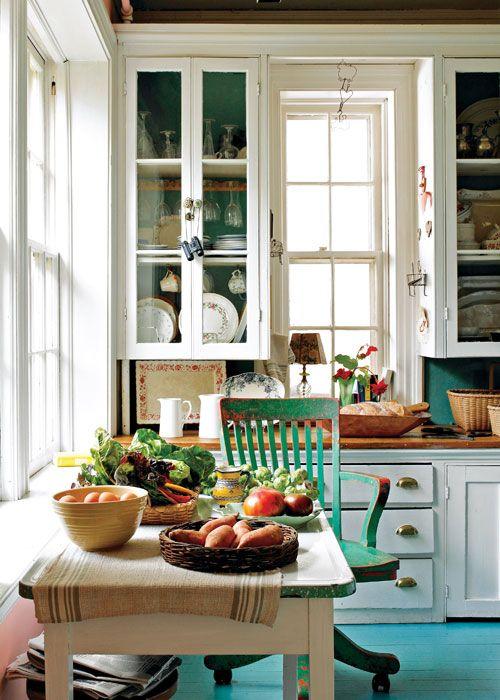 rustykalne meble w kuchni