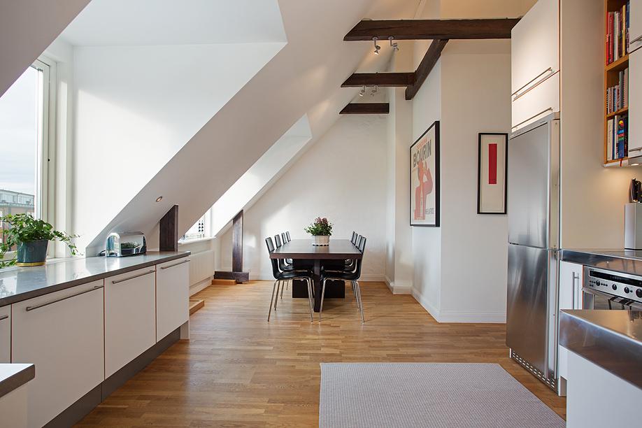 Jak urządzić pokój na poddaszu?  Lovingit pl # Kuchnie Na Poddaszu Z Jadalnia