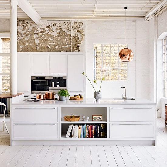 Wnętrza Z Cegły I Kamienia W Kuchni Salonie Przedpokoju I
