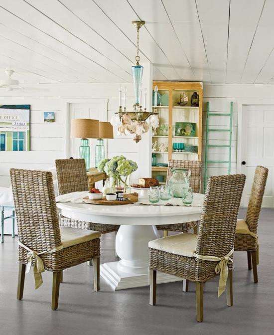 Beach Cottage Style On Pinterest: Jak Urządzić Jadalnię Z Okrągłym Stołem?
