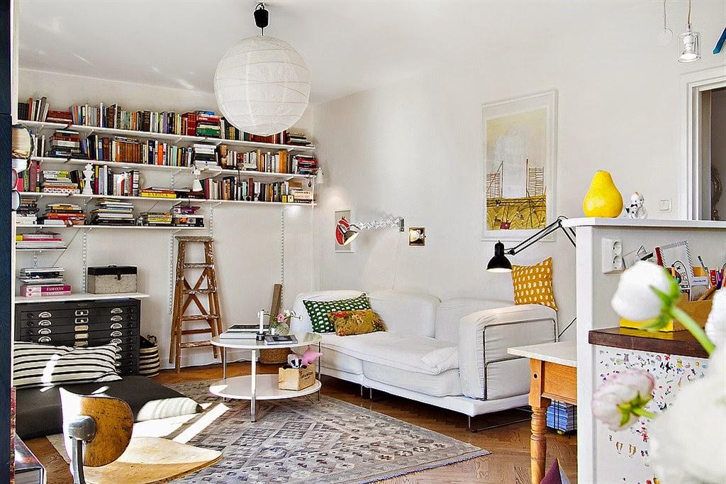 Jak urz dzi mieszkanie w kolorach bia ych i tych for Decoracion vintage apartamentos pequenos