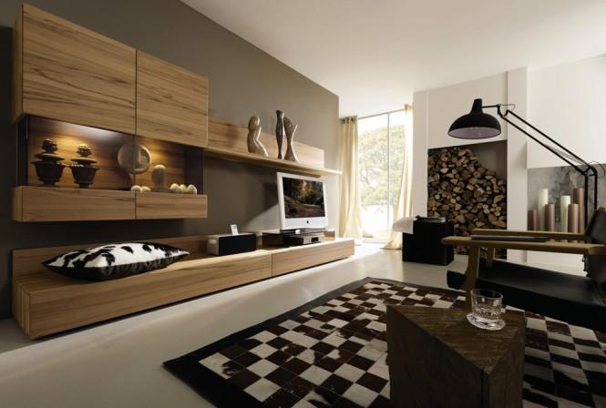 szare ciany w pokoju w po czeniu z br zem czenie kolor w cian zdj cia. Black Bedroom Furniture Sets. Home Design Ideas