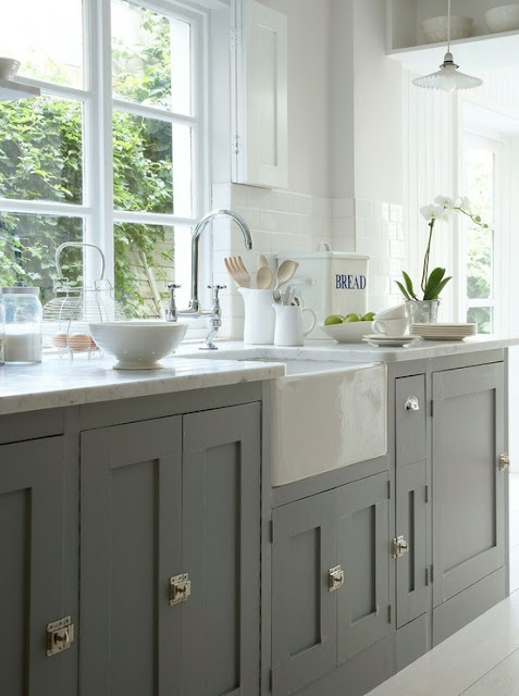 Jak urządzić kuchnię w szarym kolorze  pomysły, zdjęcia i   -> Szara Kuchnia Jaki Kolor Ścian
